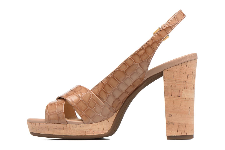 Sandali e scarpe aperte Geox D MAUVELLE C D724LC Beige immagine frontale