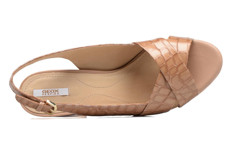 Sandali e scarpe aperte Geox D MAUVELLE C D724LC Beige immagine sinistra
