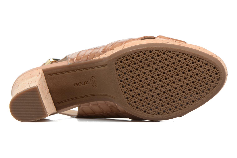 Sandales et nu-pieds Geox D MAUVELLE C D724LC Beige vue haut