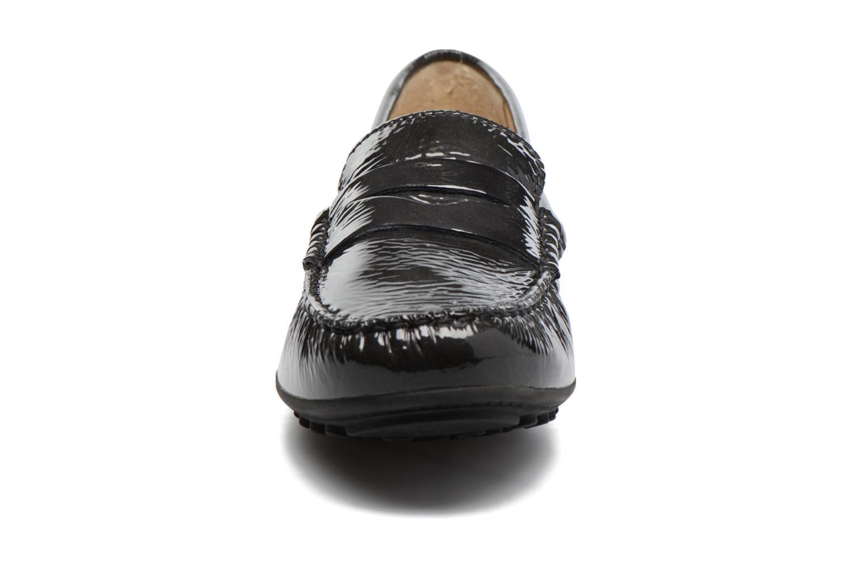 Mocassins Geox D LEELYAN B D724RB Noir vue portées chaussures