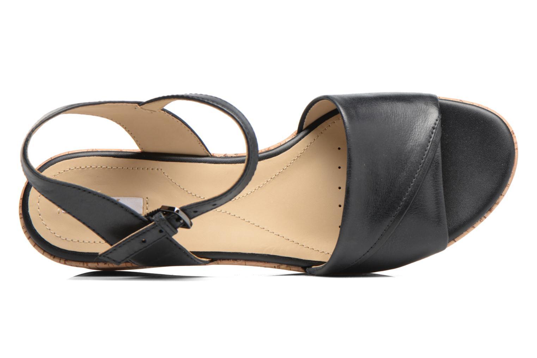 Sandales et nu-pieds Geox D SAKELY A D724VA Noir vue gauche