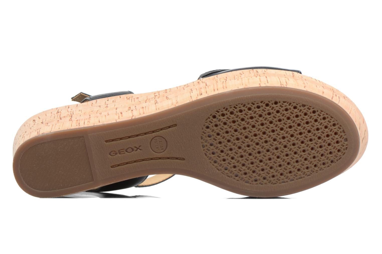 Sandales et nu-pieds Geox D SAKELY A D724VA Noir vue haut