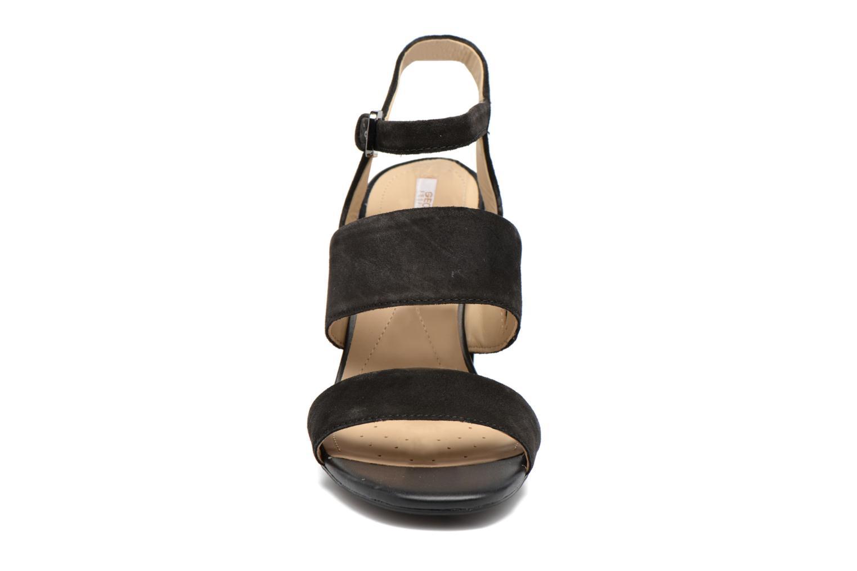 Sandales et nu-pieds Geox D AUDALIES H.SAN. A D724WA Noir vue portées chaussures