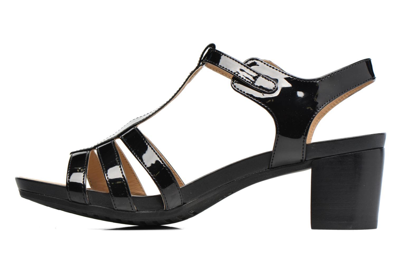 Sandales et nu-pieds Geox D SYMI C D7273C Noir vue face