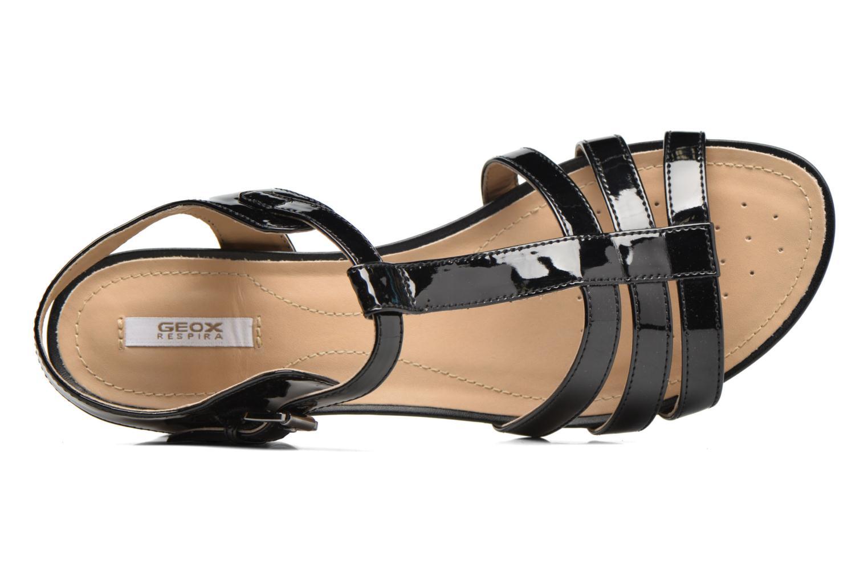 Sandales et nu-pieds Geox D SYMI C D7273C Noir vue gauche
