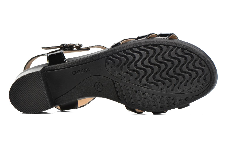 Sandales et nu-pieds Geox D SYMI C D7273C Noir vue haut