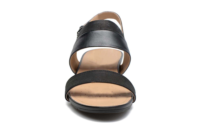 Sandalen Geox D FORMOSA C D7293C schwarz schuhe getragen