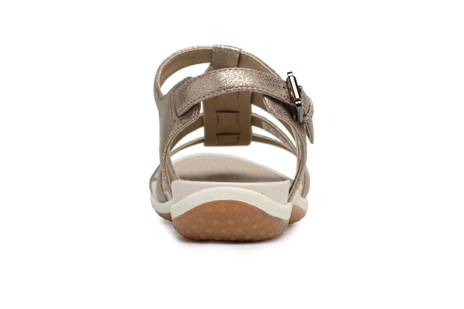 Sandals Geox D SAND.VEGA A D72R6A Silver view from the right
