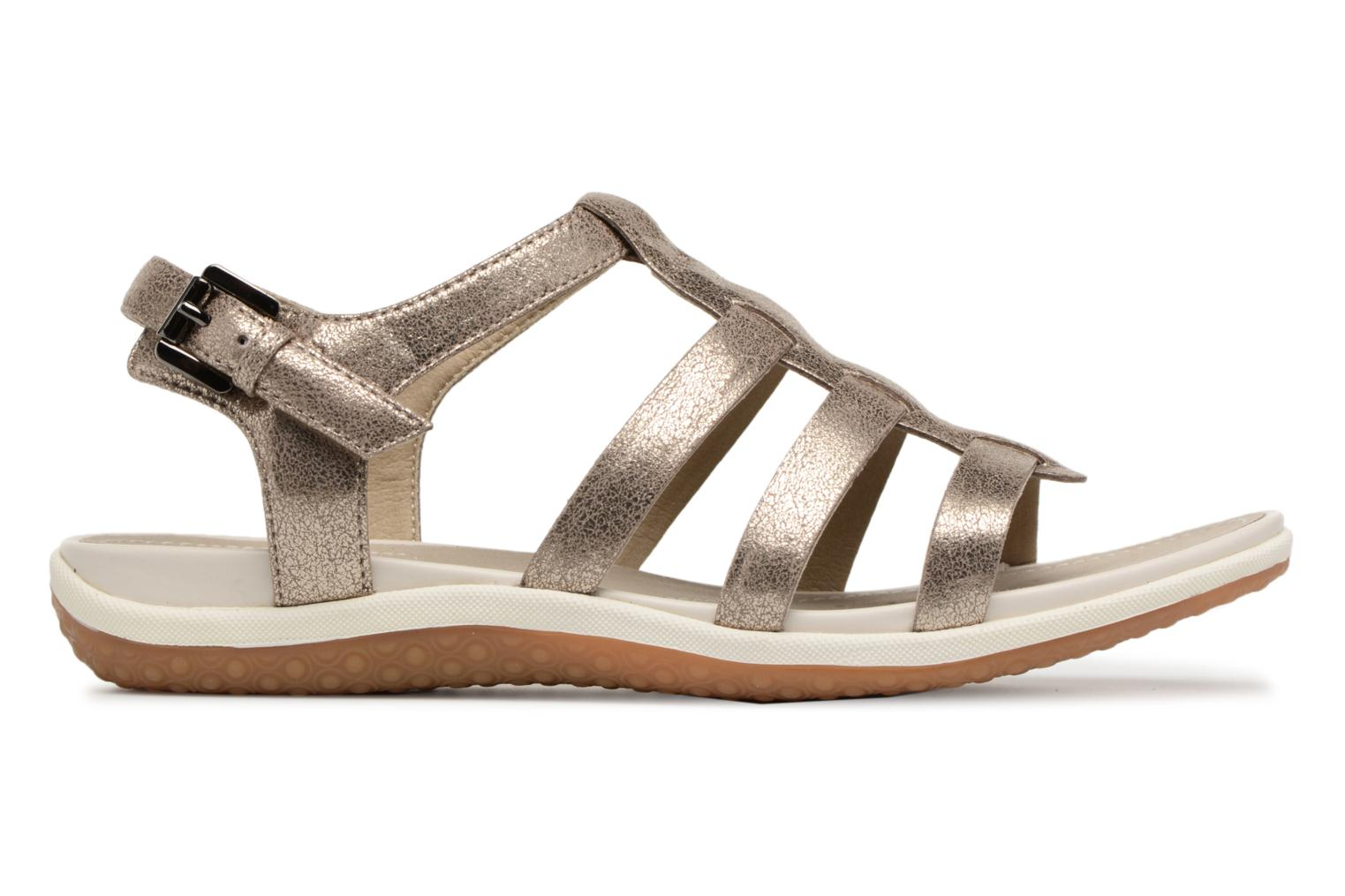 Sandals Geox D SAND.VEGA A D72R6A Silver back view