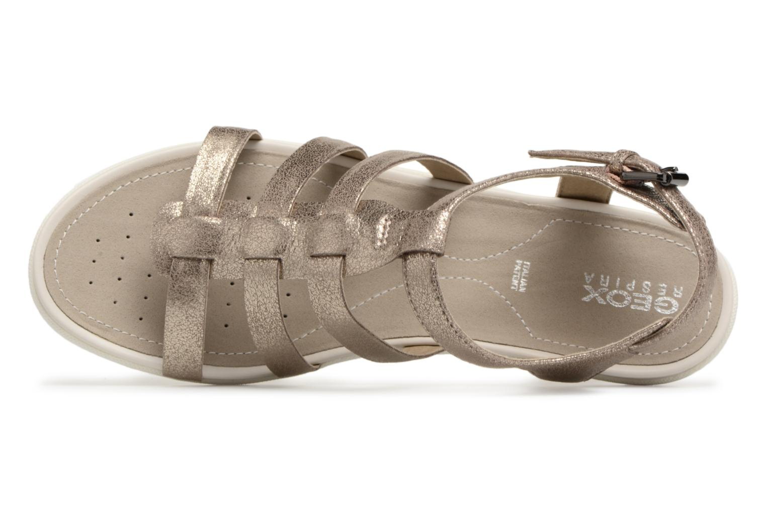 Sandals Geox D SAND.VEGA A D72R6A Silver view from the left