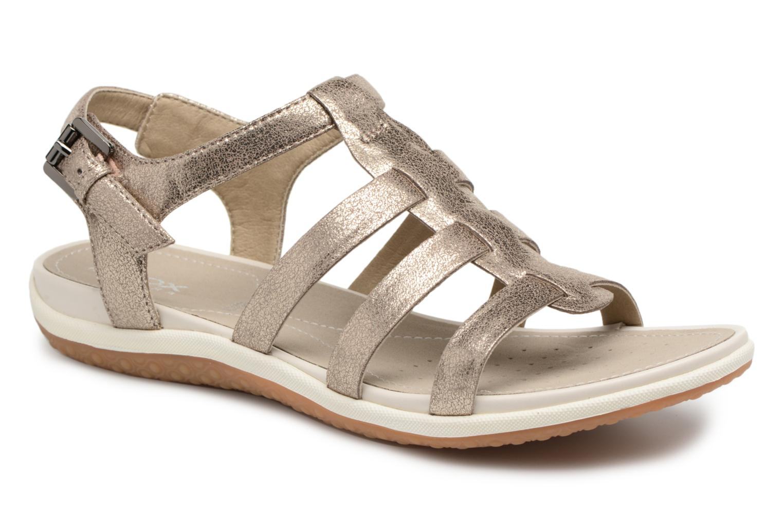 Sandals Geox D SAND.VEGA A D72R6A Silver detailed view/ Pair view