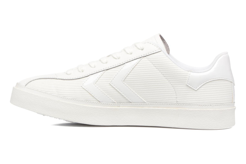Sneakers Hummel Diamant White Stripes Hvid se forfra