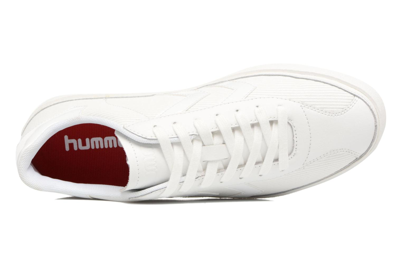 Deportivas Hummel Diamant White Stripes Blanco vista lateral izquierda