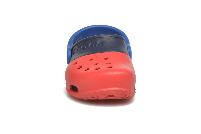 Sandales et nu-pieds Crocs Electro II Clog Rouge vue portées chaussures