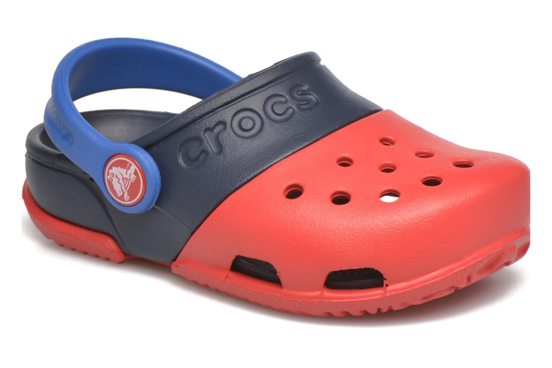 Sandales et nu-pieds Crocs Electro II Clog Rouge vue détail/paire