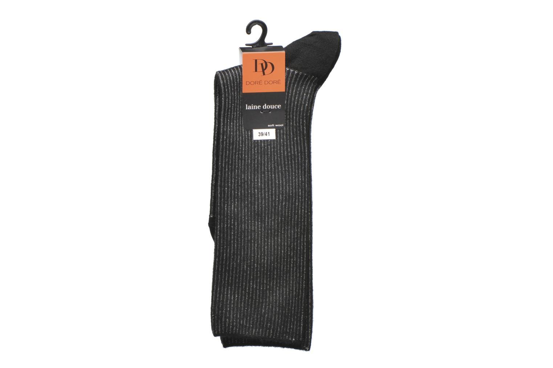Chaussettes et collants Doré Doré Chaussettes Femme Soft Angora Cote Lurex sans compression Noir vue derrière