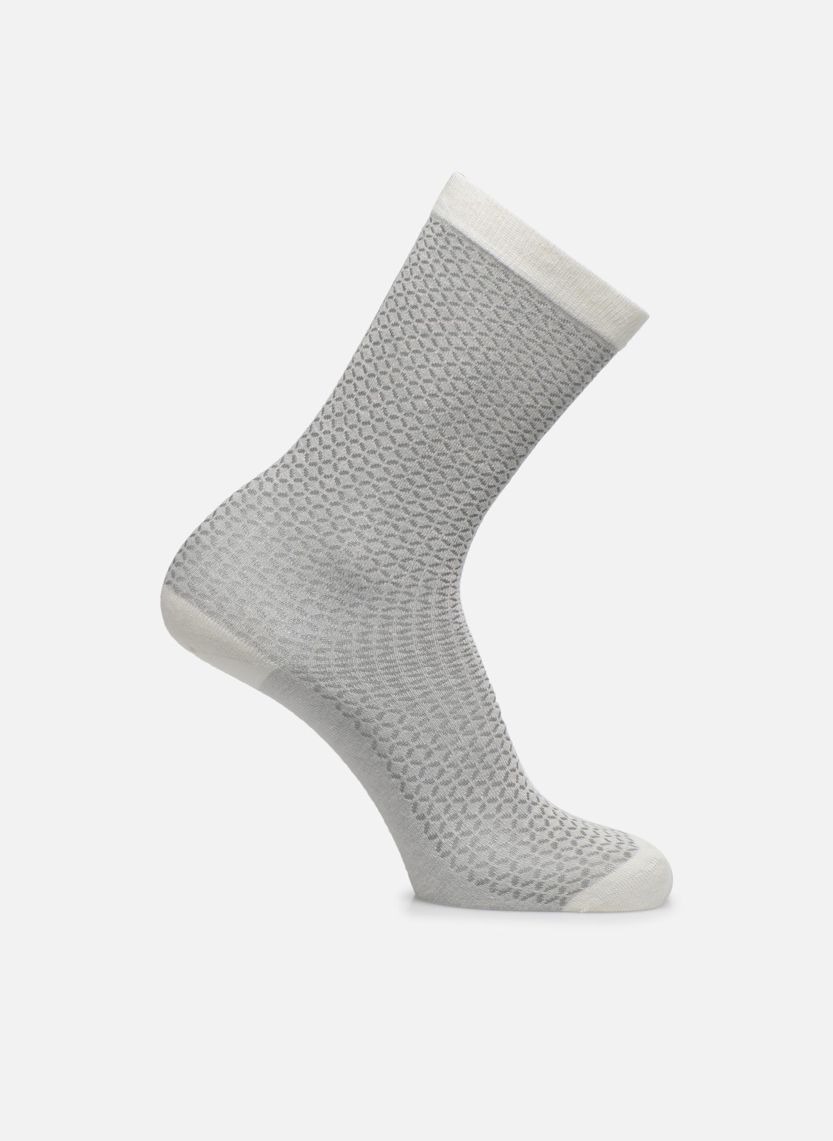 Chaussettes et collants Doré Doré Chaussettes Femme Soft angora Losanges ajourés Blanc vue détail/paire