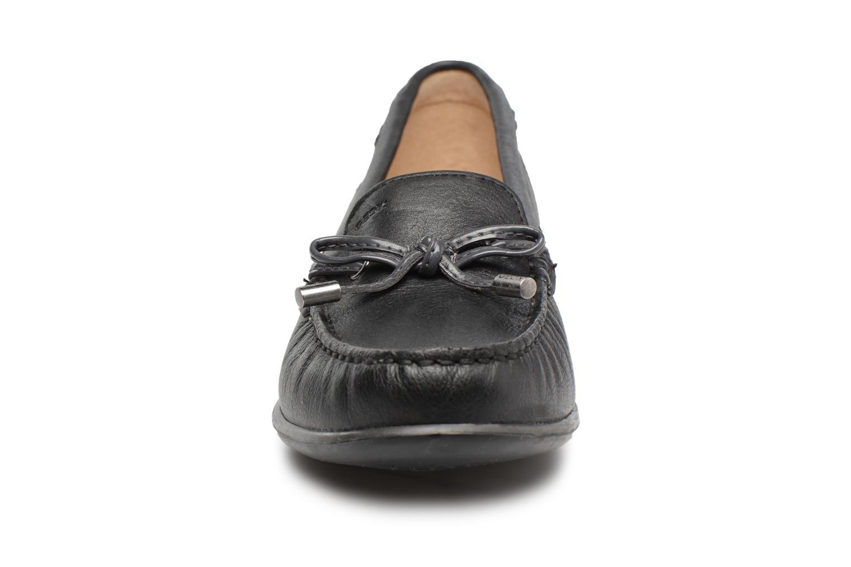 Slipper Geox D YUKI A D6455A schwarz schuhe getragen