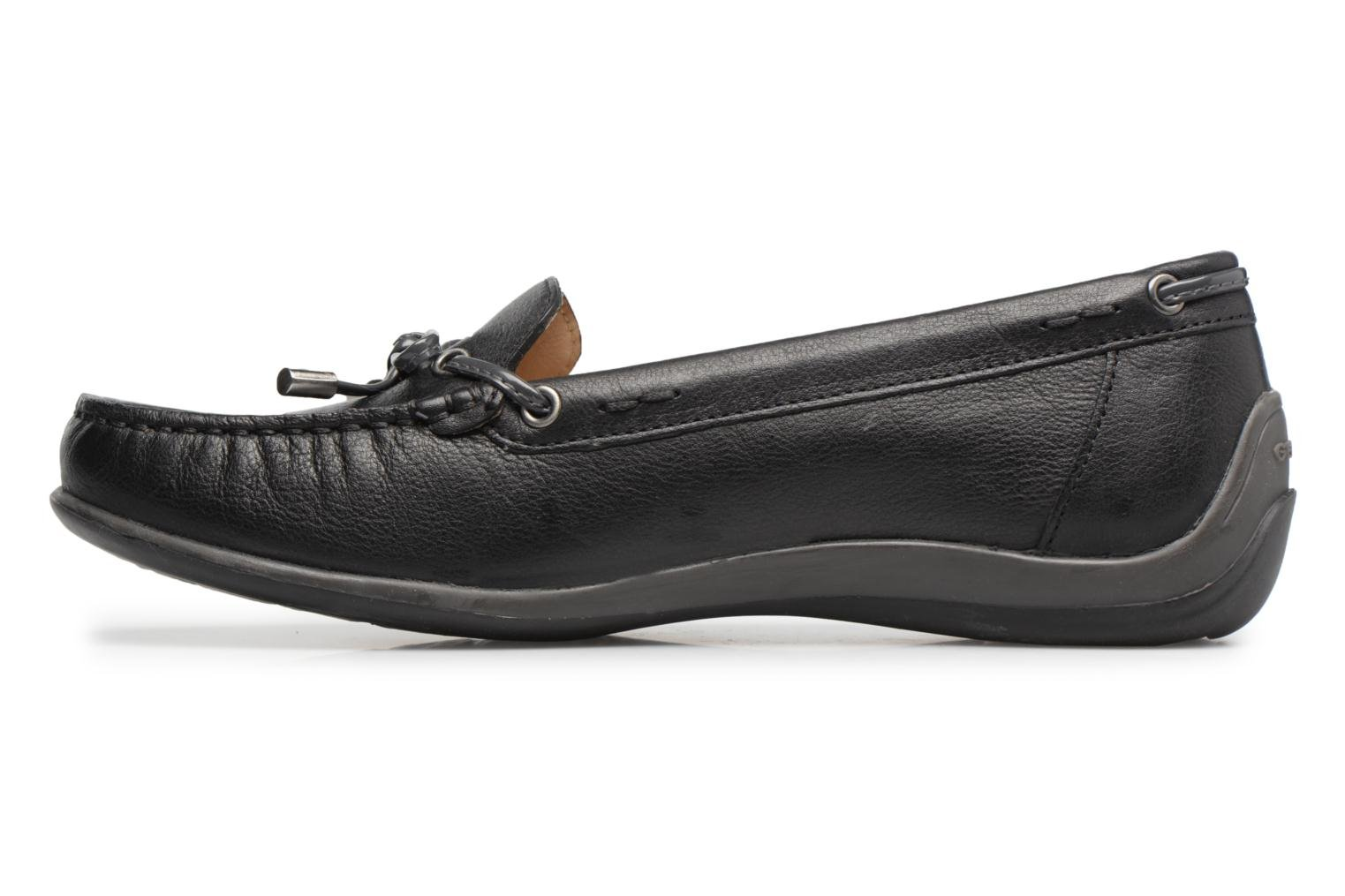 Loafers Geox D YUKI A D6455A Black front view
