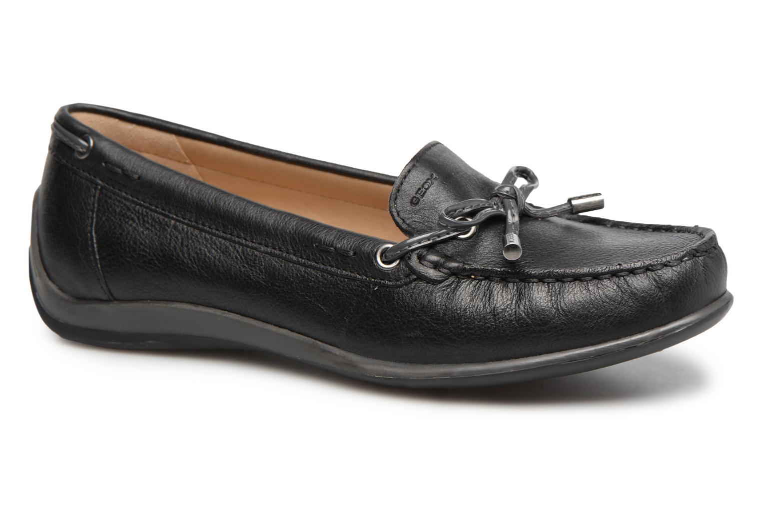 Loafers Geox D YUKI A D6455A Black detailed view/ Pair view
