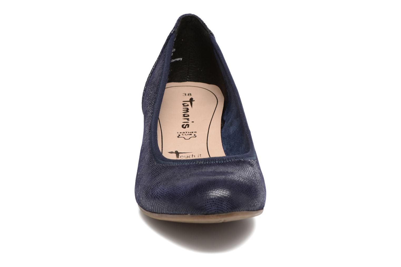 Escarpins Tamaris Forsythia Bleu vue portées chaussures