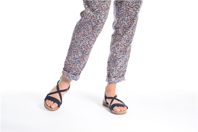Sandales et nu-pieds Tamaris Mélisse Bleu vue bas / vue portée sac