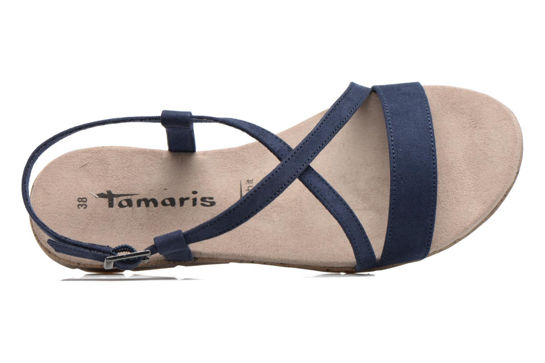 Sandales et nu-pieds Tamaris Mélisse Bleu vue gauche
