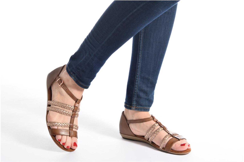 Sandales et nu-pieds Tamaris Muscari Noir vue bas / vue portée sac