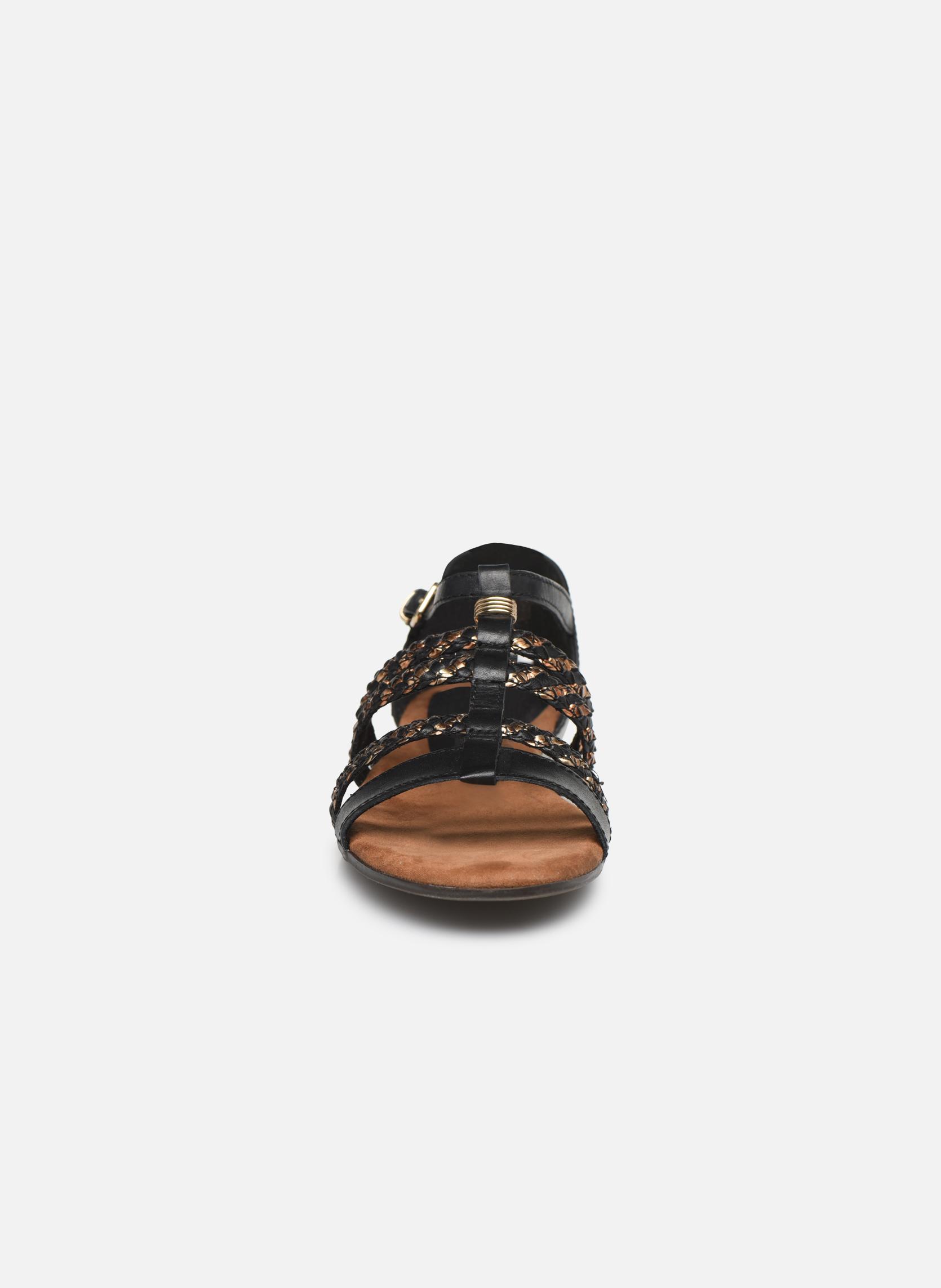 Sandales et nu-pieds Tamaris Muscari Noir vue portées chaussures