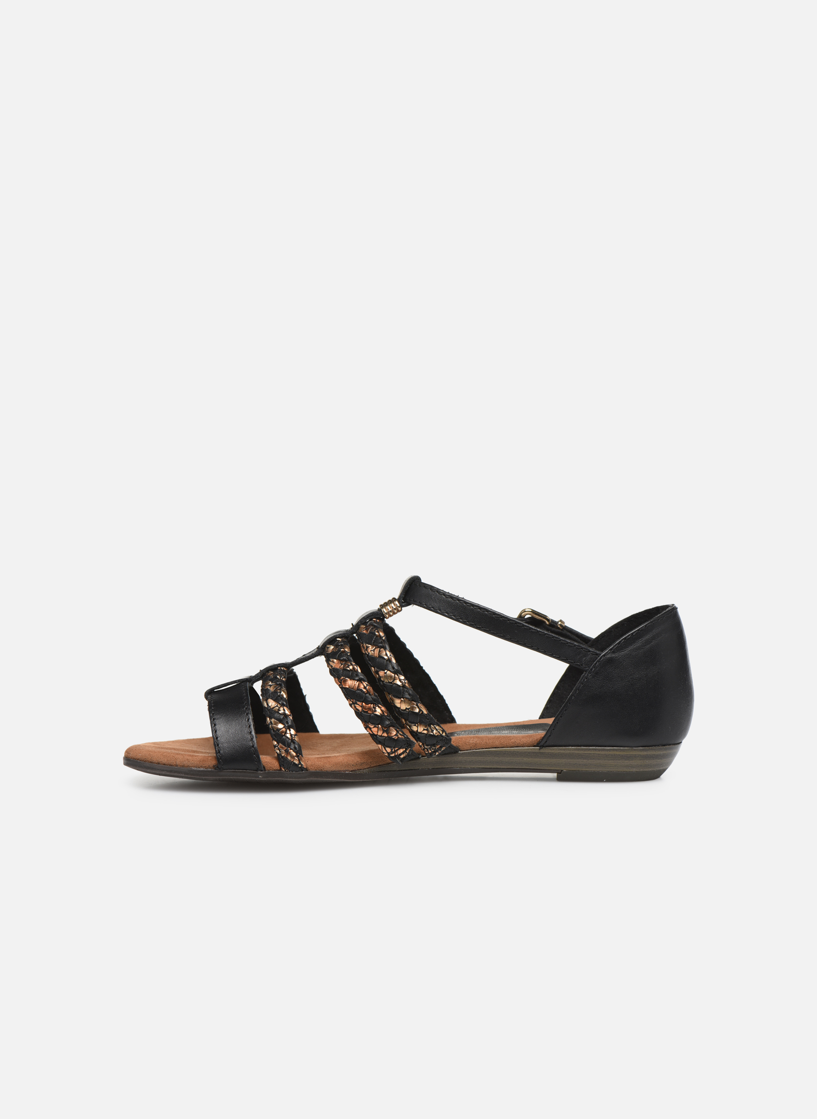 Sandales et nu-pieds Tamaris Muscari Noir vue face