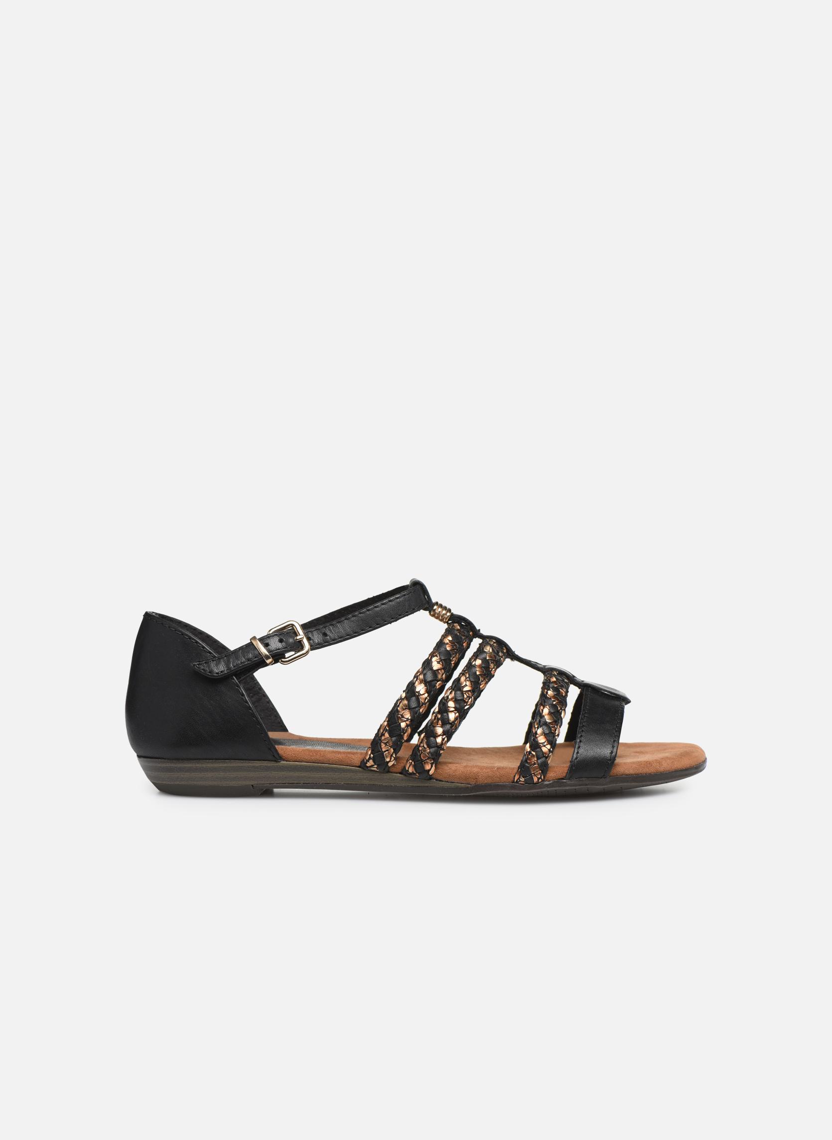 Sandales et nu-pieds Tamaris Muscari Noir vue derrière