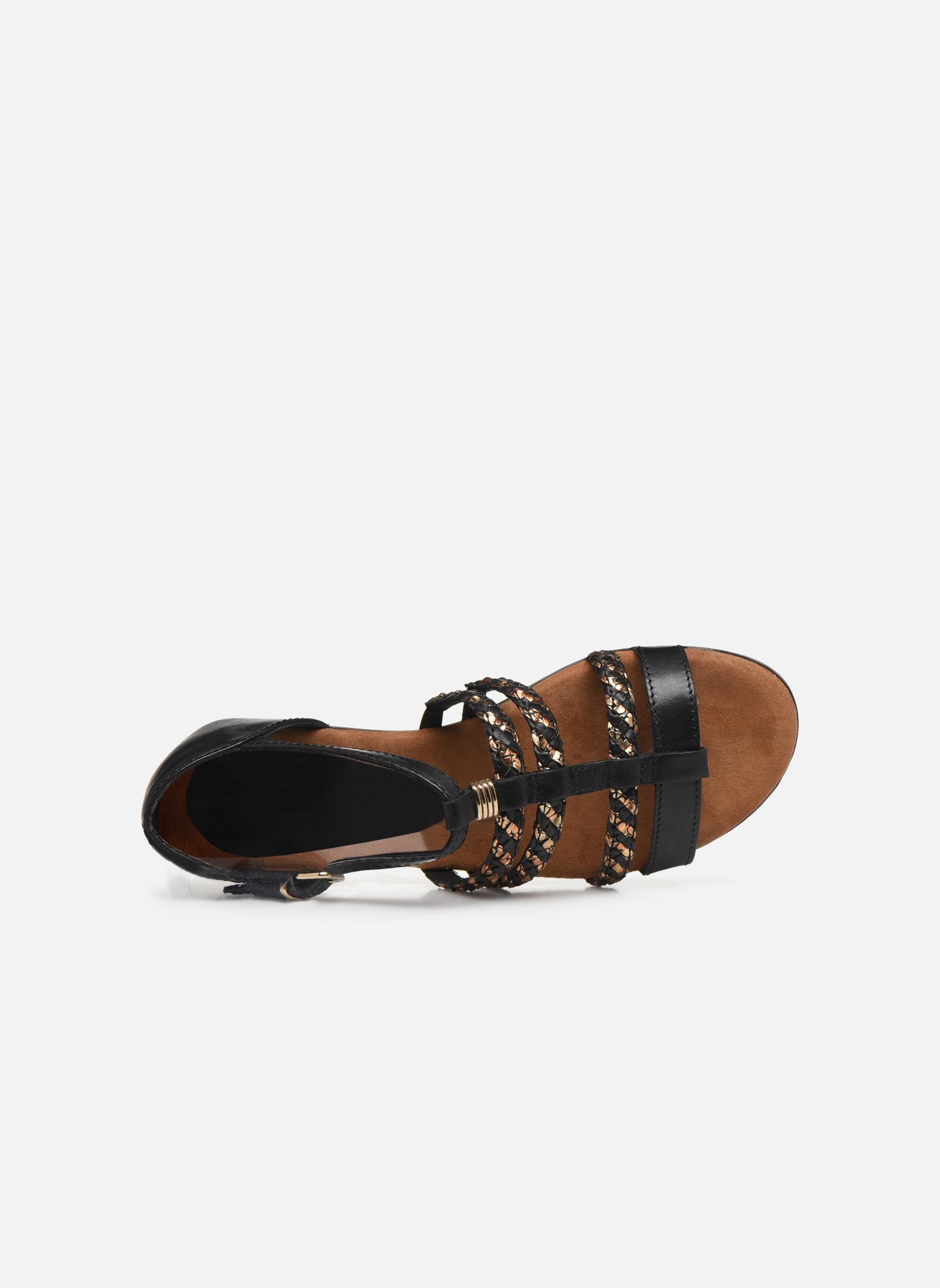Sandales et nu-pieds Tamaris Muscari Noir vue gauche
