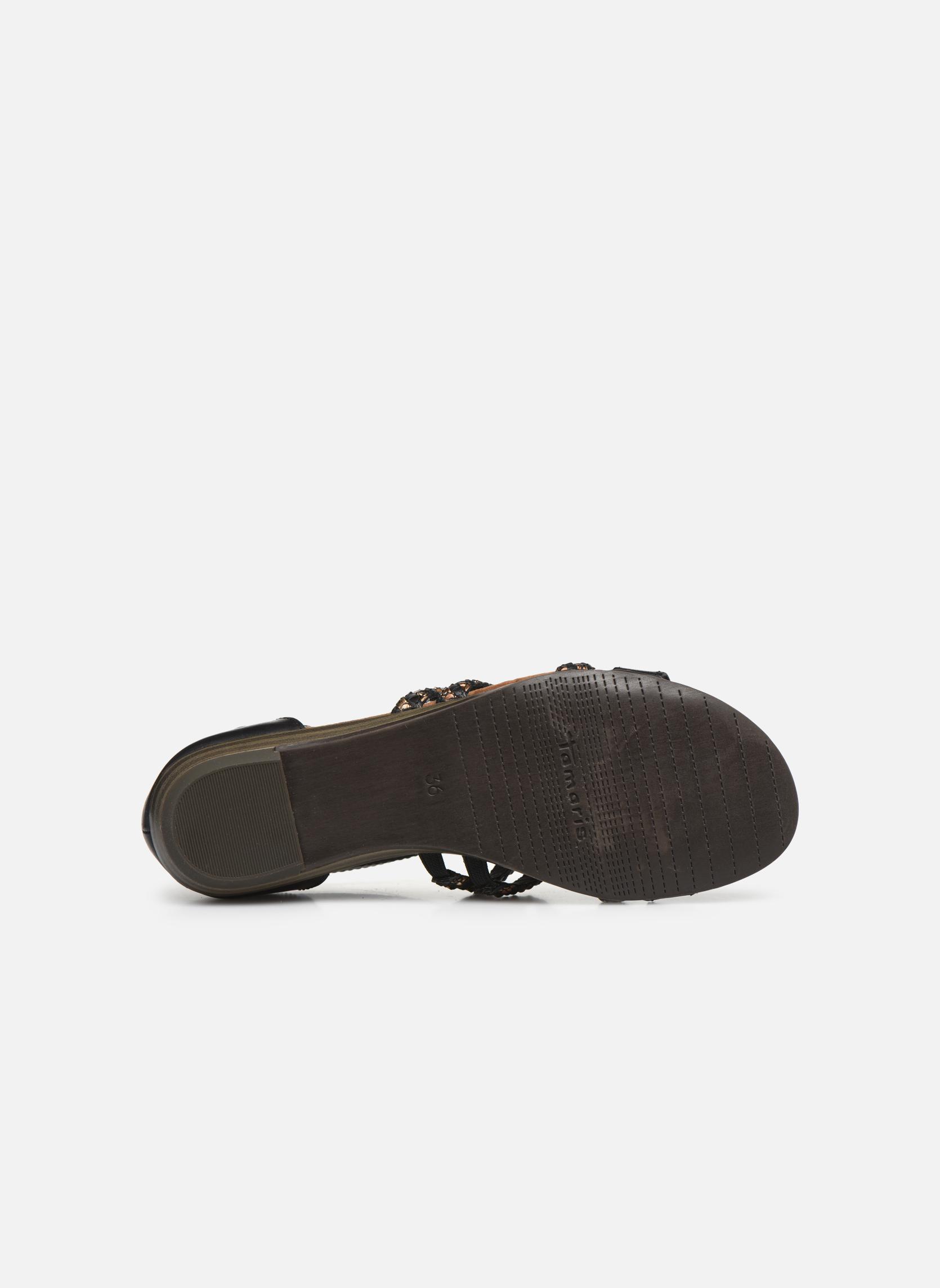 Sandales et nu-pieds Tamaris Muscari Noir vue haut