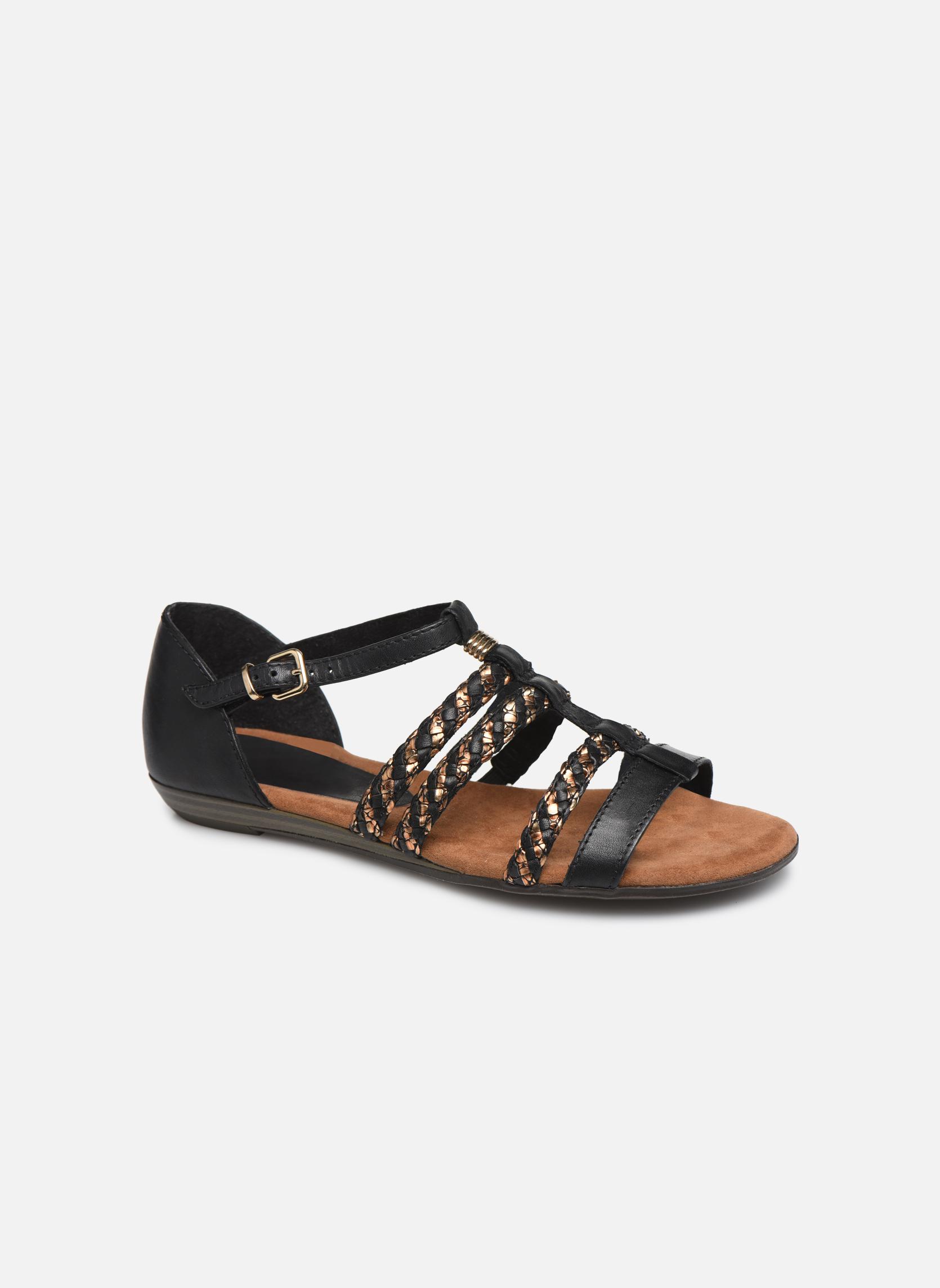 Sandales et nu-pieds Tamaris Muscari Noir vue détail/paire