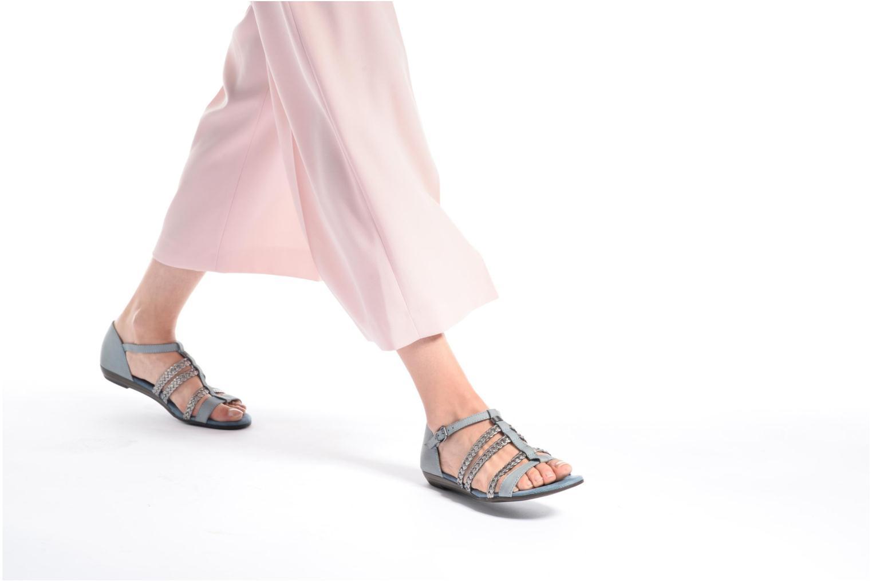 Sandales et nu-pieds Tamaris Muscari Bleu vue bas / vue portée sac