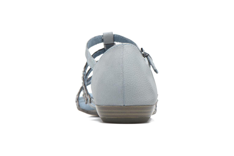 Sandales et nu-pieds Tamaris Muscari Bleu vue droite