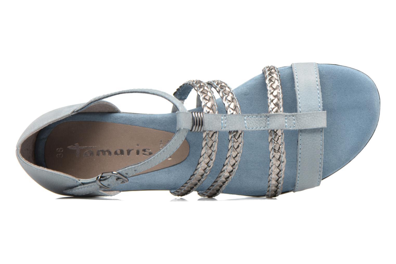 Sandales et nu-pieds Tamaris Muscari Bleu vue gauche