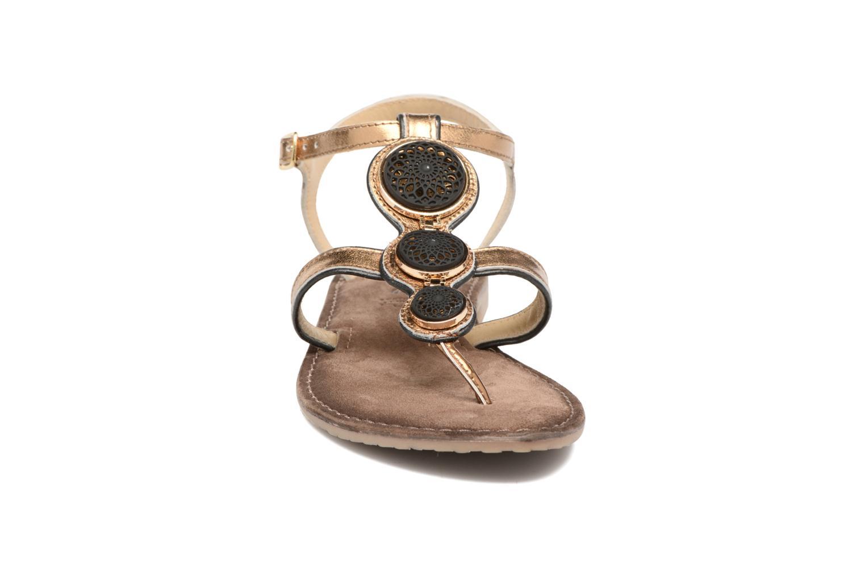 Sandales et nu-pieds Tamaris Phacélie Or et bronze vue portées chaussures