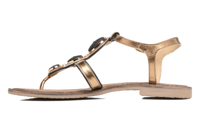 Sandales et nu-pieds Tamaris Phacélie Or et bronze vue face