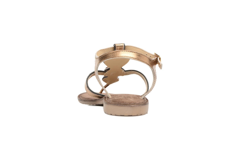 Sandales et nu-pieds Tamaris Phacélie Or et bronze vue droite