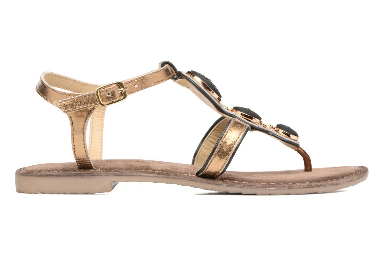 Sandals Tamaris Phacélie Bronze and Gold back view