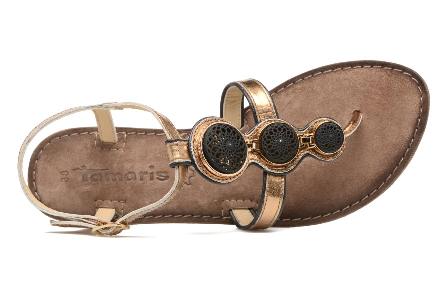 Sandals Tamaris Phacélie Bronze and Gold view from the left