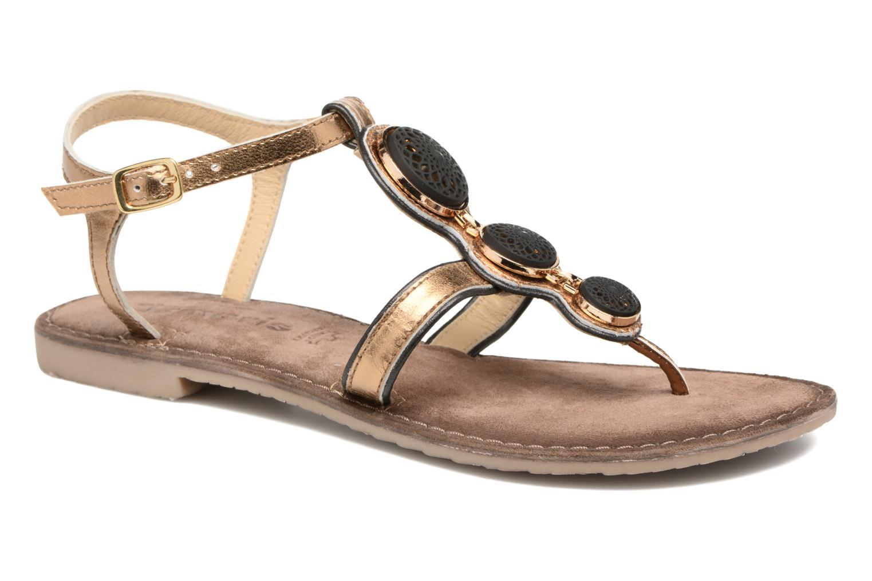 Sandaler Tamaris Phacélie Guld og bronze detaljeret billede af skoene