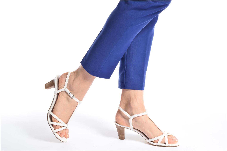 Sandales et nu-pieds Tamaris Carline Noir vue bas / vue portée sac