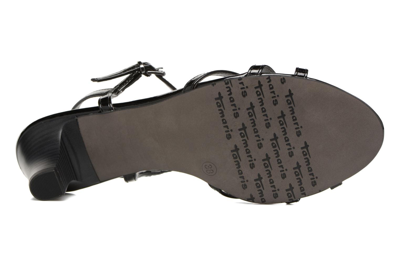 Sandales et nu-pieds Tamaris Carline Noir vue haut