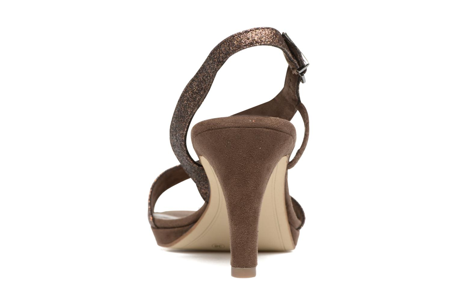High heels Tamaris Ammy Bronze and Gold view from the right