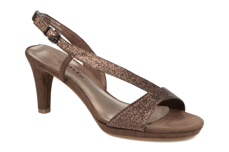Høje hæle Tamaris Ammy Guld og bronze detaljeret billede af skoene
