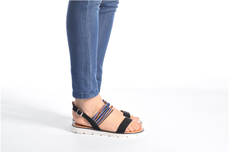 Sandales et nu-pieds Divine Factory Matage Noir vue bas / vue portée sac