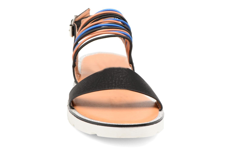Sandales et nu-pieds Divine Factory Matage Noir vue portées chaussures
