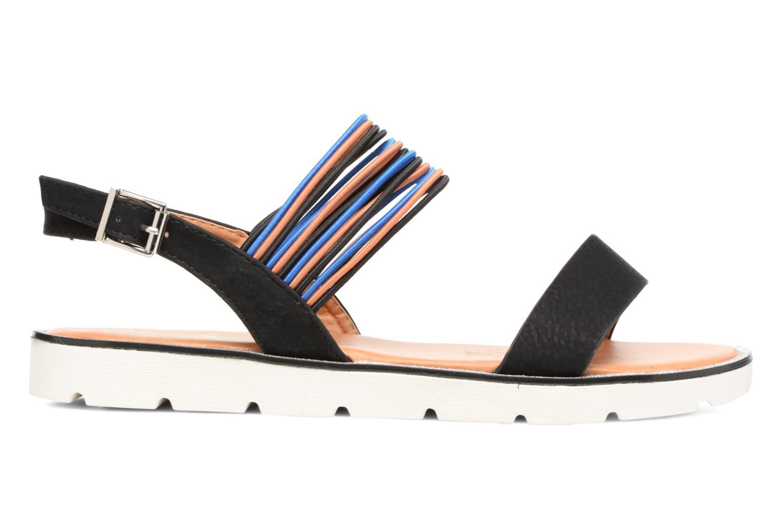 Sandales et nu-pieds Divine Factory Matage Noir vue derrière